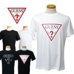 GUESS ゲス 半袖 トライアングル ロゴ Tシャツ TRIANGLE LOGO MI2K9415-MI2K9407 メンズ 黒 白 ストリート ロゴT 80年代 90年代 アメカジ ブランド 正規品