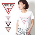 GUESS Guess ゲス 半袖 Tシャツ レディース シンプル トライアングル ロゴ 黒 白 ストリート オシャレ ロゴT アメカジ かわいい ブランド YI2K9415