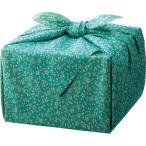 「幸せの宝箱」二段重ね 日本製風呂敷包み ブルー 〈OJYU-SHU40MBL(M)〉 〈B5〉 洋菓子 焼き菓子