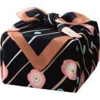 「幸せの宝箱」二段重ね ちりめん風呂敷包み クロ 〈OJYU-SHU50MBLK(M)〉 〈B5〉 洋菓子 焼き菓子