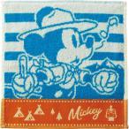 ディズニー タオルハンカチ ミッキーマウス アウトドア マウンテン 〈PJ813200〉 婦人1枚セット