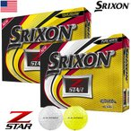 スリクソン 2019 Z-STAR ゴルフボール 1ダース USA直輸入品 ウレタンカバー 3ピース ホワイト
