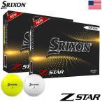 スリクソン 2021 Z-STAR 3ピース ウレタンカバー ゴルフボール 1ダース(12球入)USA直輸入品