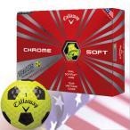 キャロウェイ 2016 CHROME SOFT TRUVIS (クロムソフト トゥルービス)ボール 1ダース[イエロー](USA直輸入品)