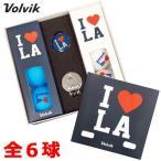 Volvik VIVID I LOVE Los Angeles (ボルビック ビビッド ロサンゼルス) 限定 マットカラー ゴルフボール 全6球入 クリップマーカー付 USA直輸入品