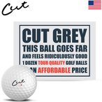 CUT GREY ゴルフボール 1ダース(全12球入) ウレタンカバー 3ピース構造 コンプレッション80 カットゴルフ USA直輸入品