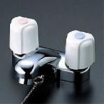 〈3年保証無料〉*KVK水栓*KM66G/KM66ZG 水栓金具 洗面用2ハンドル混合栓 ゴム栓付