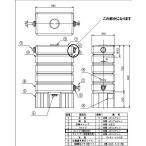 タキロン雨水タンク アメマルシェ120リットル用2連結用部品 ウスイタンクブヒン CAP-H120