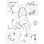 LIXIL(INAX)リクシル シャワートイレ 200-640 パッキンセット(5枚組)【メール便対応】