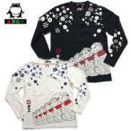 参丸一[サンマルイチ]和柄/蛙笠地蔵ロングTシャツ  SLT-10258 カエルのお地蔵様長袖t
