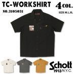 Schott ショット 3105031 Schott   TC WORK SHIRT 半袖 ワークシャツ バイカー アメカジ 【通常商品】