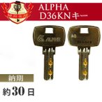ALPHA 合鍵 アルファ D36KNキーディンプルキー/メーカー純正スペアキー 合鍵作製