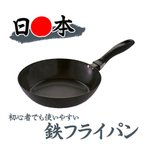 送料無料 日本製 藤田金属 油ならし不要の使いやすい鉄フライパン20cm