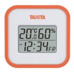 【送料無料メール便専用】 タニタ デジタル温湿度計 オレンジ TT-558OR