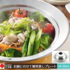 送料無料 ヨシカワ お鍋にのせて簡単蒸しプレート(ドーム型)