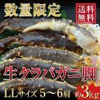 タラバガニ 生タラバ 蟹脚 たらば蟹 3kg 蟹 セクション LLサイズ 5〜6肩 送料無料 折れあり お歳暮 ギフト