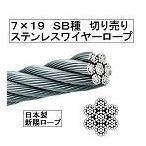 【国産】7×19 ステンレスワイヤーロープ12mm(切り売り)