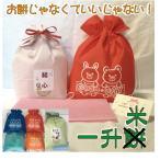 一升米【コシヒカリ】 ナップサック 一歳のお祝いに 名入れ 一升餅 背負い餅 リュック