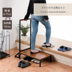● 武田コーポレーション 手すり付き玄関台60 K0-TG60BR 玄関 踏み台 木製 段差 玄関ステップ