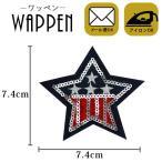 ワッペン スパンコール アイロン接着可能 縦7.4cm×横7.4cm 星 スター バッグやiPhoneケースをオリジナルに ハンドメイド 手作り 手芸 メール便