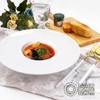 洋食器 平型 リム スープ皿 中皿 24cm 白い食器 日本製 美濃焼 カネスズ kanesuzu 皿 ワイドリム 平型スープ皿 ホテル食器 レストラン食器 高級 おしゃれ 業務用
