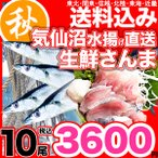 さんま 秋刀魚 10尾  1尾130g以上  海鮮 送料無料 お取り寄せ ご当地グルメ 気仙沼直送 サンマ 生