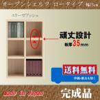 本棚 008 ロータイプ 75cm幅 エリーゼアッシュ色  オープンシェルフ 完成品 日本製 フリーラック 収納家具 本収納 本棚 書棚 究極のシンプルデザイン