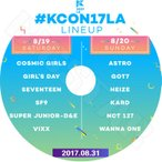 K-POP DVD/2017 KCON In LA (2017.08.31)/WANNA ONE SEVENTEEN GOT7 VIXX D&E SF9 ASTRO GIRL`SDAY NCT127 他