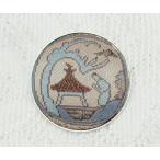 ループタイ用飾り 12 正絹の西陣織の帯地から 真鍮製の皿付き 新品