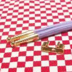 ループタイ製作用紐・金具セット カジュアルタイプ 剣先金色 金具金色リボン型 メッキ済み 少し訳あり