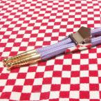 ループタイ製作用紐・金具セット カジュアルタイプ 剣先金色 金具梯子型ストッパー付き メッキ済み 少し訳あり