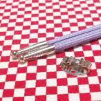 ループタイ製作用紐・金具セット×3セット カジュアルタイプ 剣先銀色 金具銀色小判型 メッキ済み 少し訳あり
