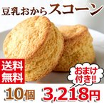 ダイエット 大きい 食べ応え 美味しい お菓子 置き換え 豆乳 おから スコーン カロリーオフ 325170