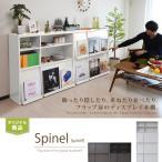 本棚 扉付き ディスプレイラック 2個 セット 薄型 フラップ おしゃれ 書棚 収納家具 ディスプレイ 棚 木製 フラップ扉 2段