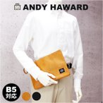 クラッチバッグ メンズ/ANDY HAWARD 薄マチ 合皮セカンドバッグ/23471/セカンドバック クラッチバック おしゃれ 男性