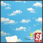 壁紙 のり付き のりつき クロス 国産壁紙 ファミリア ポップ 子供部屋 キッズルーム 空 雲 サンゲツ FE-3998(注:横使い)