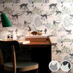 壁紙 のり付き のりつき クロス 国産壁紙 ねこ ネコ 猫 防かび ルノン RH-4691〜RH-4692