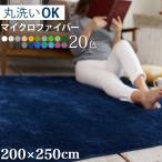 シャギーラグ - ラグ ラグマット 洗える おしゃれ 北欧 マイクロファイバーラグマット 3畳 200×250cm ウォッシャブル カーペット