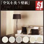壁紙 のりなし クロス 国産壁紙 空気を洗う壁紙 不燃 クラフト ライン RH-9559〜RH-9564