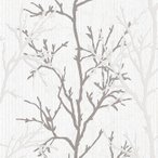 壁紙 輸入壁紙 rasch2020 447941 (Selection) 北欧 ノルディック 木 ツリー 白 ホワイト グレー