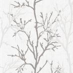 壁紙 はじめてセット 輸入壁紙 rasch2020 447941 (Selection) 北欧 ノルディック 木 ツリー 白 ホワイト グレー
