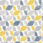 壁紙 輸入壁紙 rasch2020 519846 (Modern Art) ジオメトリー ノルディック 幾何学 北欧 黄色 青 レトロ レトロモダン
