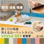 おくだけ吸着洗えるカーペットタイル サンゲツ スタイルキット カット STYLE KIT CUT 40×40cm角 2枚単位で販売
