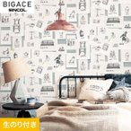 壁紙 のり付き壁紙 シンコール BIGACE ポップ調 BA5112*BA5112の写真