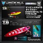 ※ジャッカル ビンビンメタルTG タイプスロー 30g レッドイカグロー 4525807179699 JACKAL BINBIN METAL TG TYPE-SLOW  送料250円 鯛 タイ