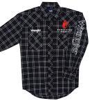 ラングラー ペンドルトン ウィスキー ロゴ 刺繍 黒 チェック柄 ウエスタンシャツ カウボーイ 馬 MPS775