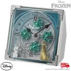 アナ雪 置時計 メロディ からくり エルサ 時計 アナと雪の女王 4RH784MA03 ディズニー からくり スワロフスキー 置き時計 disney_y お取り寄せ