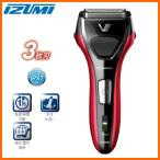 IZUMI IZF-V537-R レッド 泉精器製作所 往復式シェーバー 3枚刃ソリッドシリーズ S-DRIVE 髭剃り 電気シェーバー