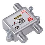 2DMS DXアンテナ 周波数帯域10~3224MHz 1端子電流通過 2分配器(4K/8K対応)