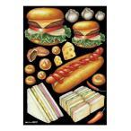 デコシールA4サイズ ハンバーガー ホットドッグ チョーク 40237